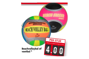 beachvolleybal of voetbal