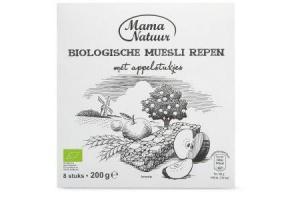 mama natuur biologische mueslirepen met appelstukjes