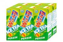 wicky ice tea green perzik 6 pakjes