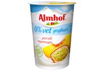 almhof halfvolle 0 vet yoghurt perzik maracuja