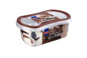 perfekt slagroomijs drie chocolade