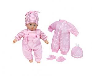 babypop met extra kleding