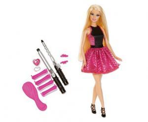 barbie pop met eindeloze krullen