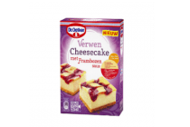 dr. oetker verwen cheesecake met frambozensaus
