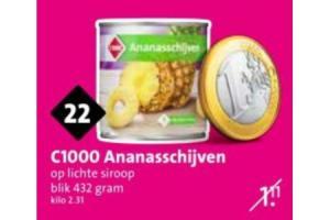 c1000 ananasschijven