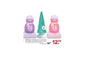 led figuur kerstboom of sneeuwman