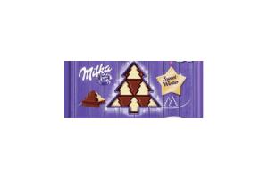 milka chocoladetablet kerstboom