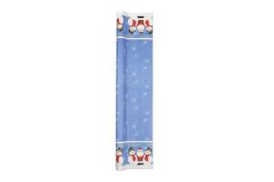 tafelrol met kerstman en sneeuwpop decoratie