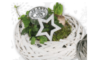 kerststuk met hyacint en hedra