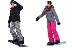 kinderski  en snowboardset