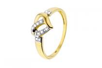 lucardi geelgouden ring met diamant hart