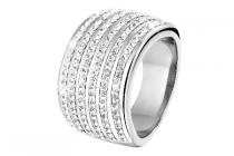 lucardi stalen ring met kristal