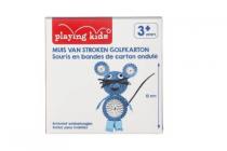 kids muis van stroken golfkarton
