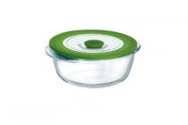 pyrex ronde schaal met deksel 20cm