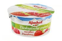 almhof biologische yoghurt aarbei framboos