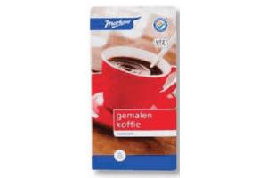 markant gemalen koffie rood