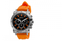 henley horloge oranje
