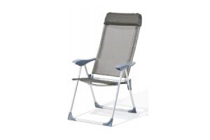 standenstoel met 5 standen aluminium  textileen