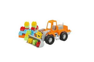 bulldozer met blokken
