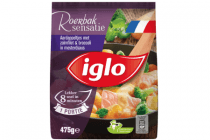 iglo aardappeltjes met zalmfilet  broccoli