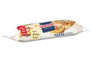 danerolles vers pizzadeeg met tomatensaus