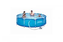 zwembad met pomp