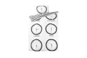 dekbedovertrekset city clocks