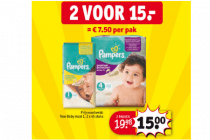 pampers stapelkorting 2 voor euro15