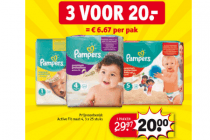 pampers stapelkorting 3 voor euro30
