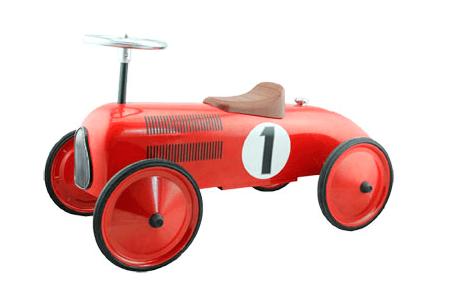 metalen loopauto retro roller james