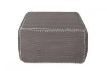 woood poef stitch grijs