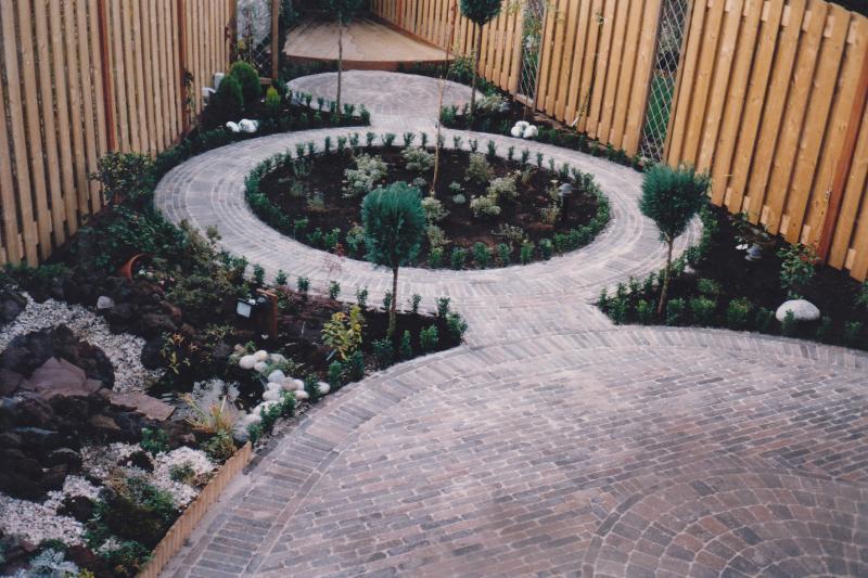 boerderij stenen in cirkels