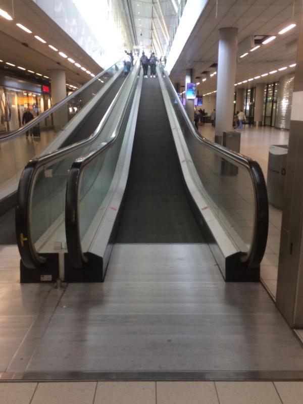 Handy escalator at arrivals