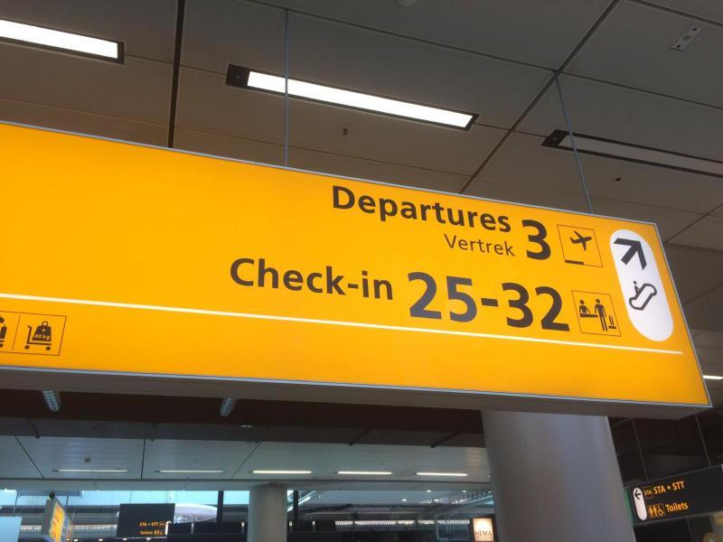 Departures Schiphol Airport