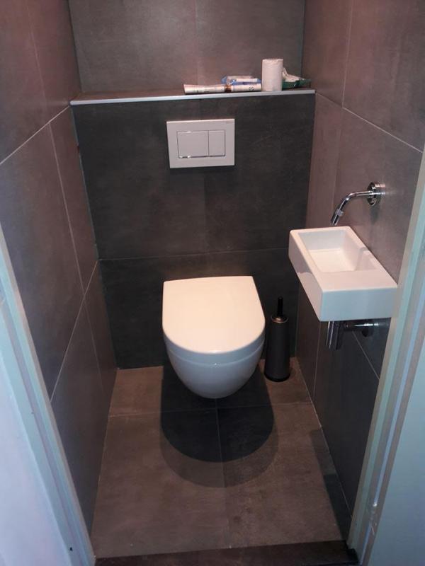Eind resultaat toilet in emmen