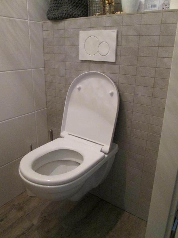 Eind resultaat toilet in hoogeveen