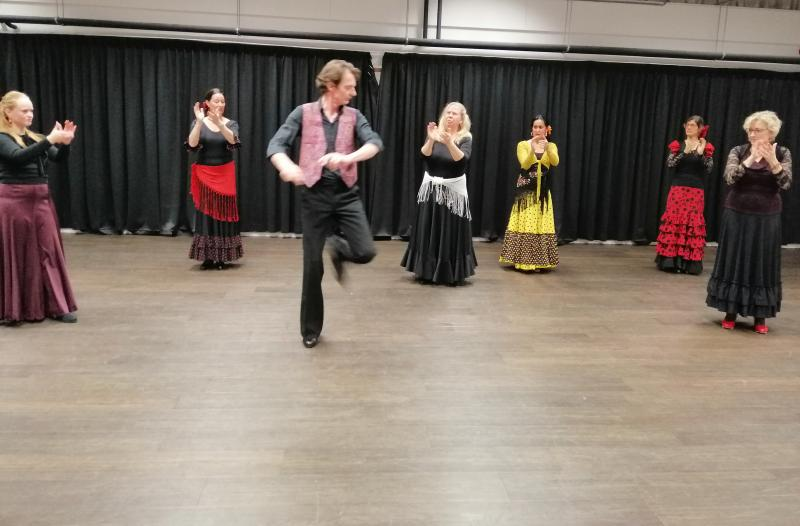 Flamenco gevorderden groep in Zwolle 20-12-2018