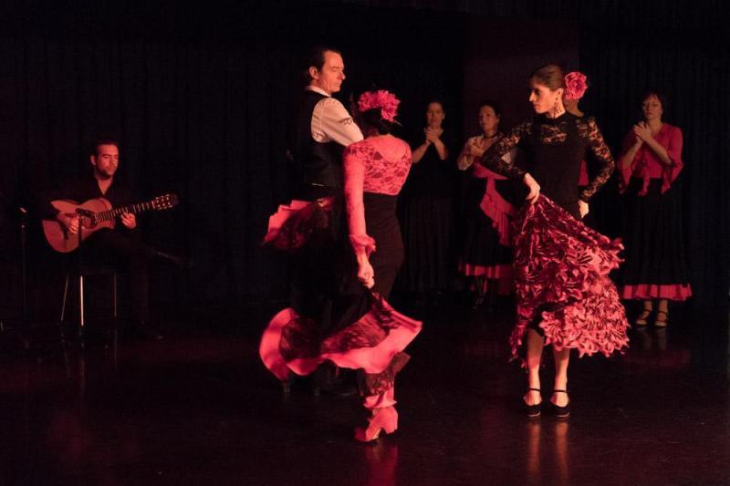 """Leerlingen optreden tijdens flamenco show """"Flamenco pasion"""""""