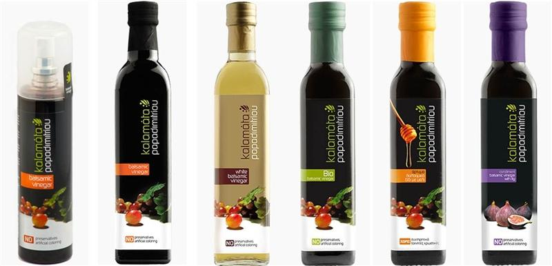 Balsamic Vinegar originating solely from sun-dried grapes of southern Peloponne