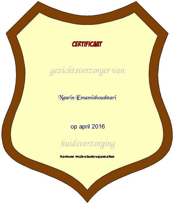 het certificaat