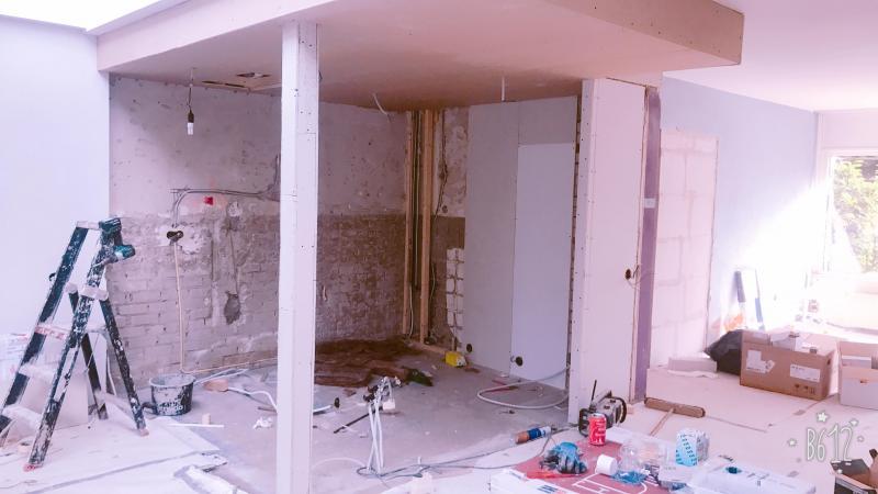 Staalconstructie + verlaagd plafond