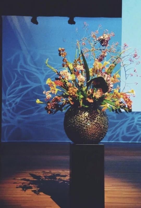 Podium bloemen