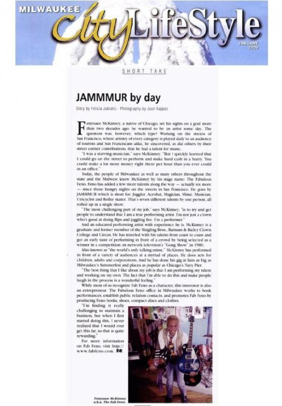 ���¢�¯�¿�½�¯�¿�½Jammmur by day���¢�¯�¿�½�¯�¿�½ / City Lifestyle magazine. (Milwaukee, WI)