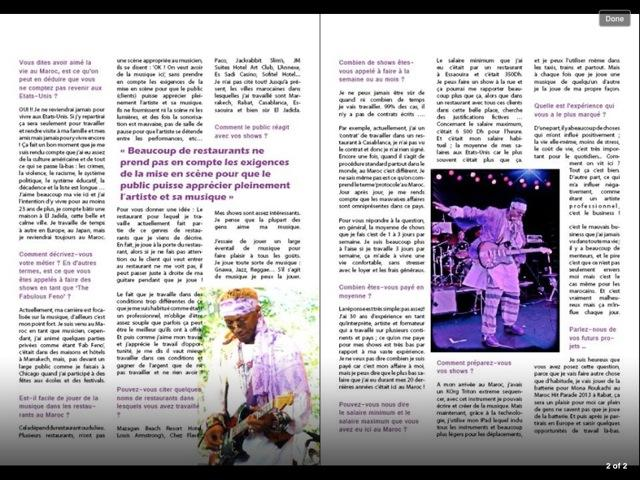 Press article featuring musician, Feb Feno -Part 2