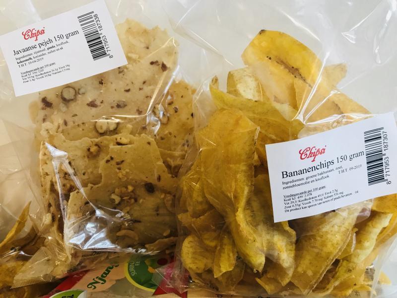 Pejeh en Bananen Chips