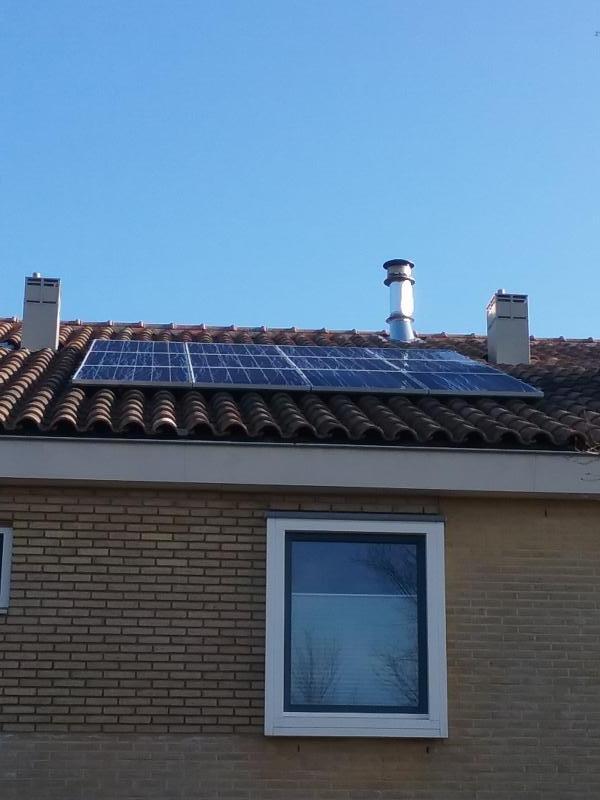 geplaatste zonnepanelen