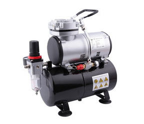 € 92,00 Airbrush mini compressor met luchttank Fengda AS-186
