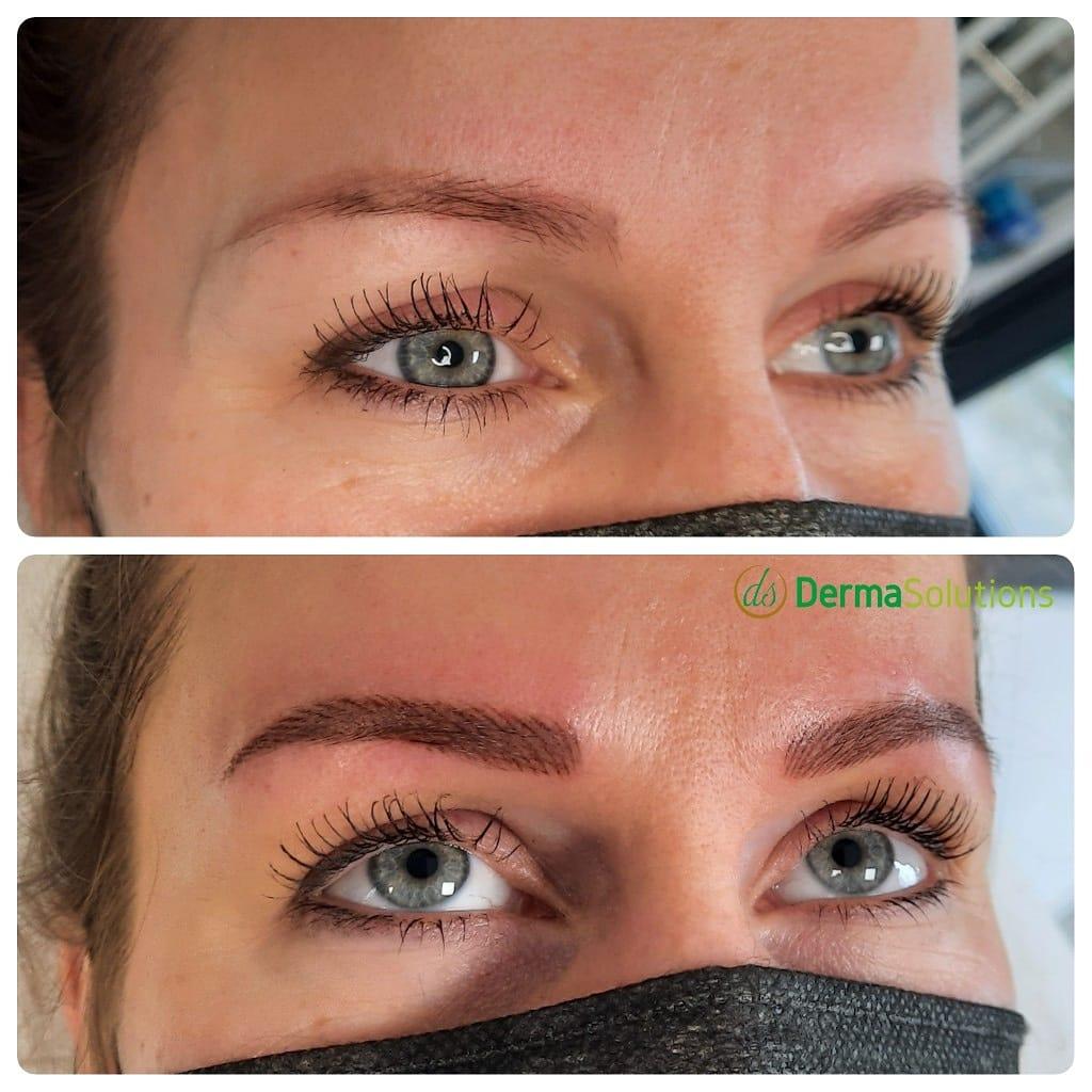 permanente make up hairstrokes brows