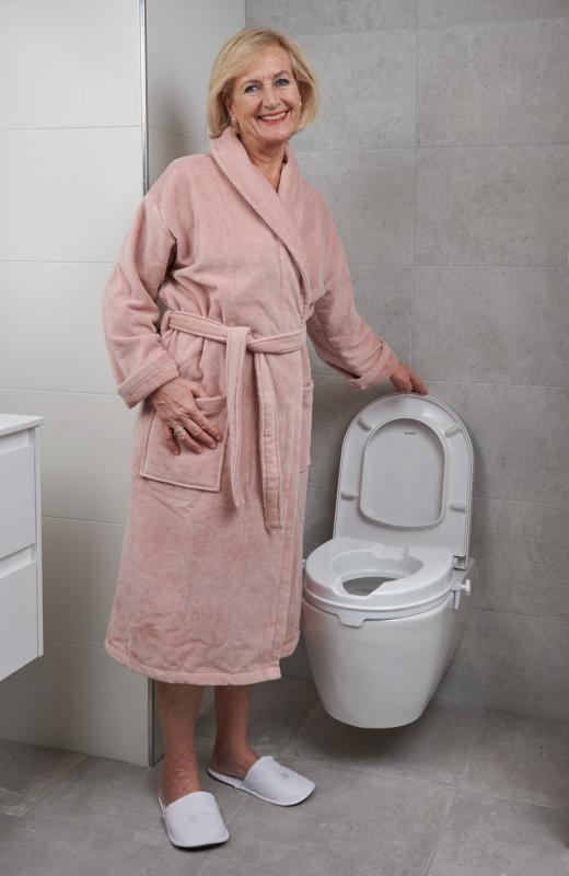 blij met de toiletverhoger!