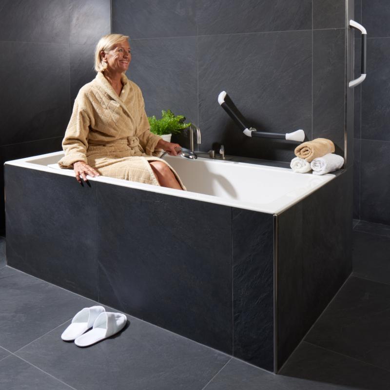 Om uit het bad te komen zijn er verschillende soorten wandbeugels.